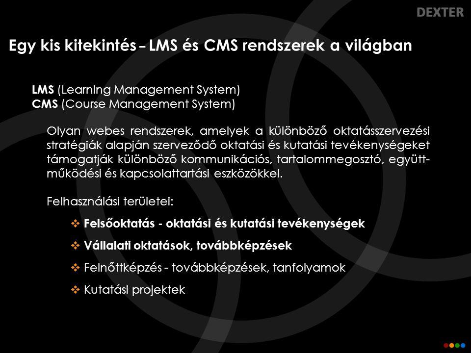Egy kis kitekintés – LMS és CMS rendszerek a világban