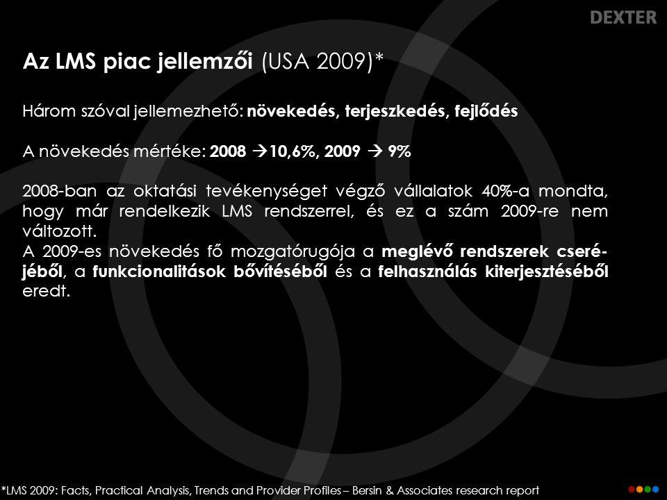 Az LMS piac jellemzői (USA 2009)*