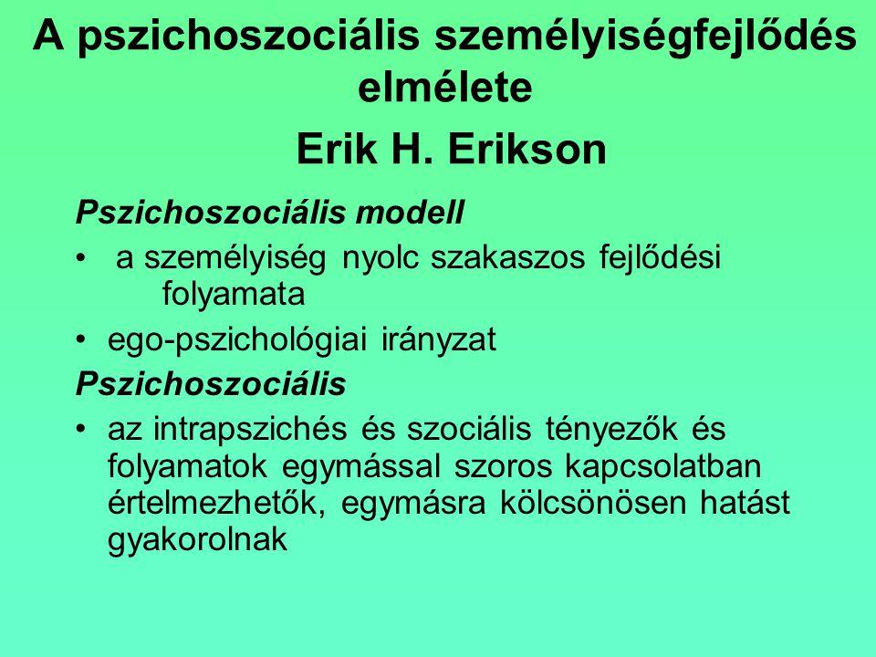 A pszichoszociális személyiségfejlődés elmélete Erik H. Erikson