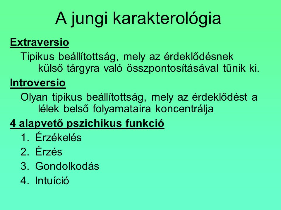 A jungi karakterológia