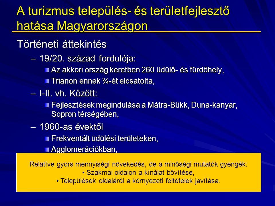 A turizmus település- és területfejlesztő hatása Magyarországon