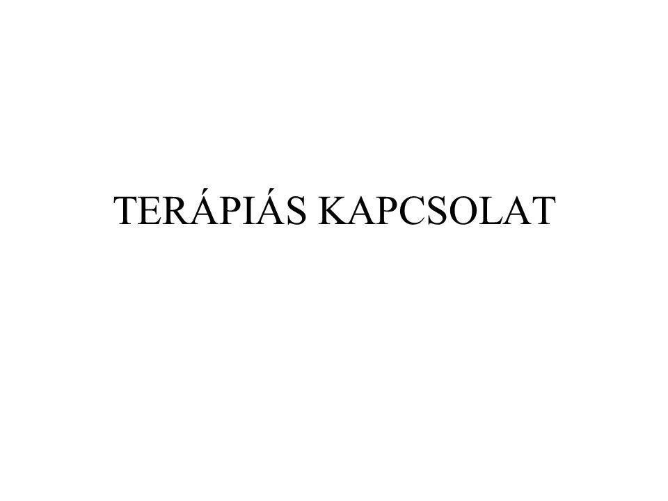 TERÁPIÁS KAPCSOLAT