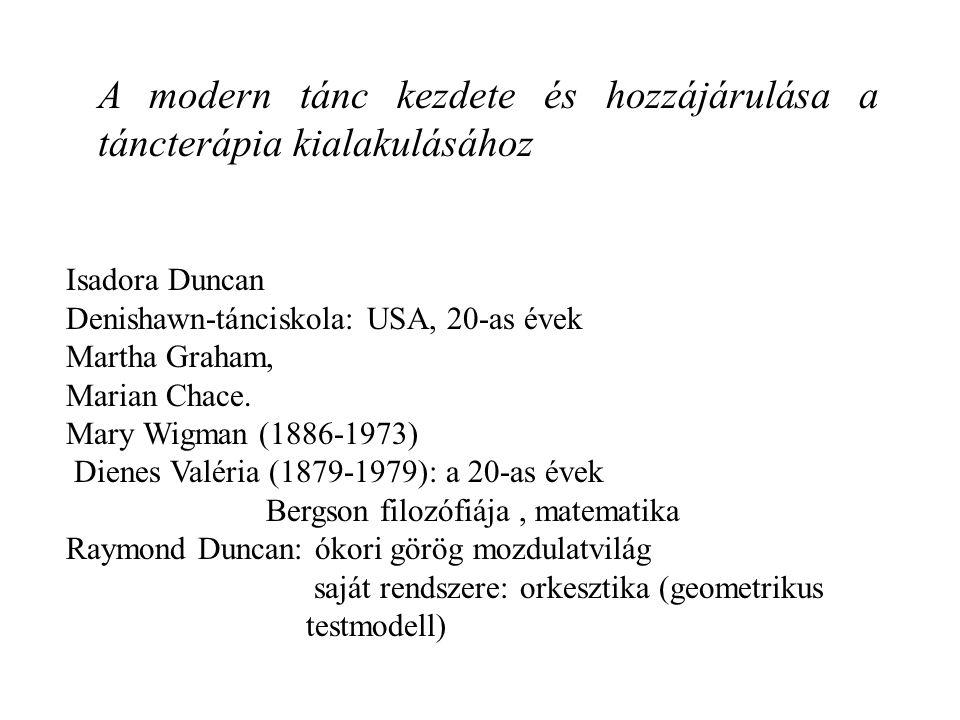 A modern tánc kezdete és hozzájárulása a táncterápia kialakulásához
