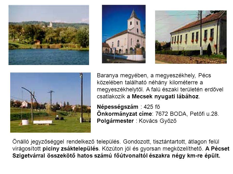Baranya megyében, a megyeszékhely, Pécs közelében található néhány kilométerre a megyeszékhelytől. A falú északi területén erdővel csatlakozik a Mecsek nyugati lábához.