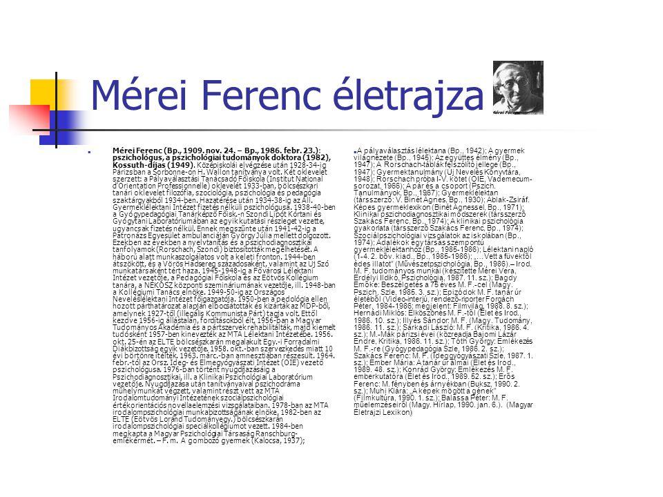 Mérei Ferenc életrajza