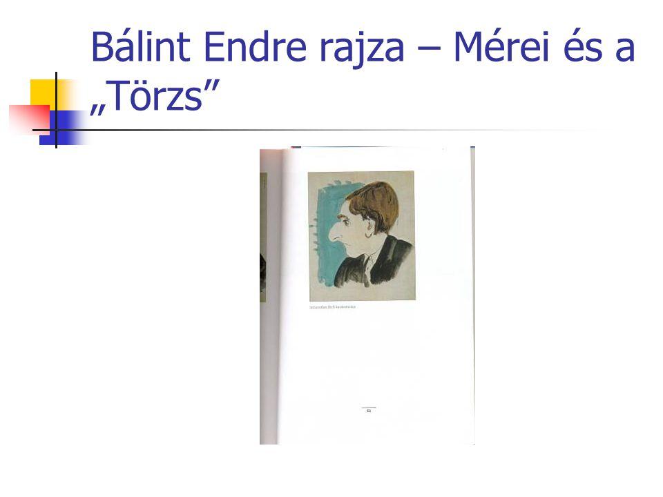 """Bálint Endre rajza – Mérei és a """"Törzs"""