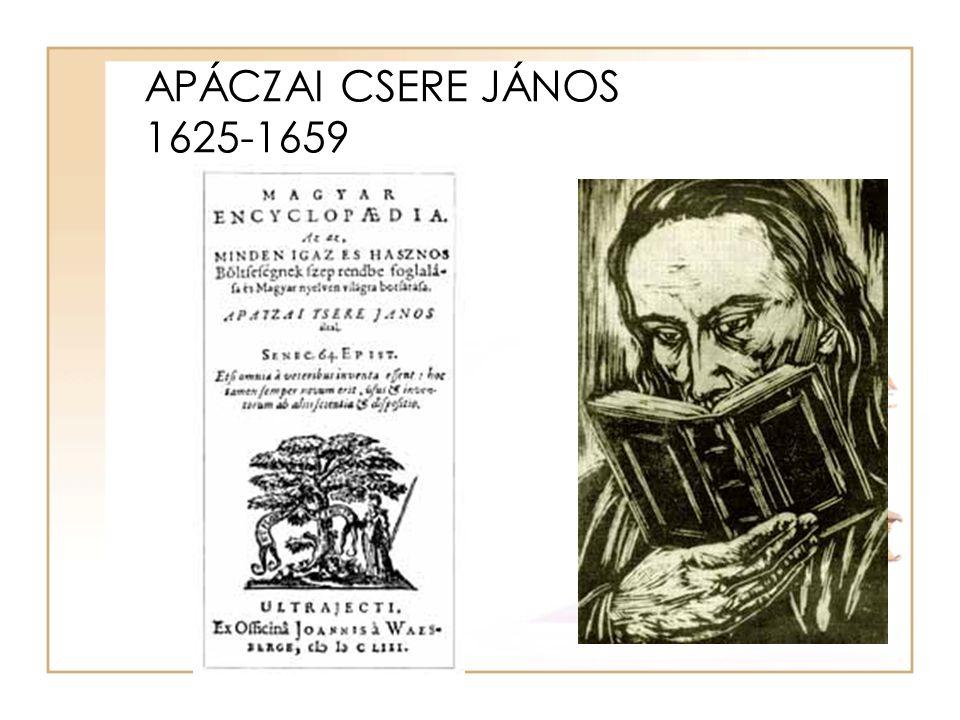 APÁCZAI CSERE JÁNOS 1625-1659