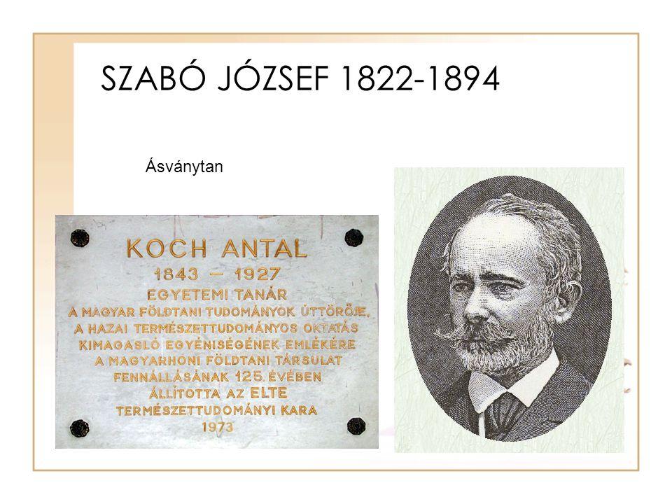 SZABÓ JÓZSEF 1822-1894 Ásványtan