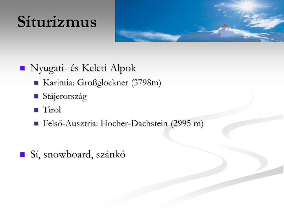Síturizmus Nyugati- és Keleti Alpok Sí, snowboard, szánkó