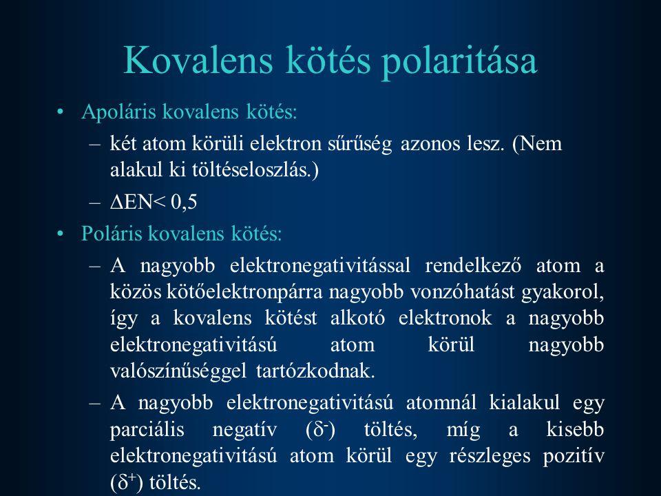 Kovalens kötés polaritása