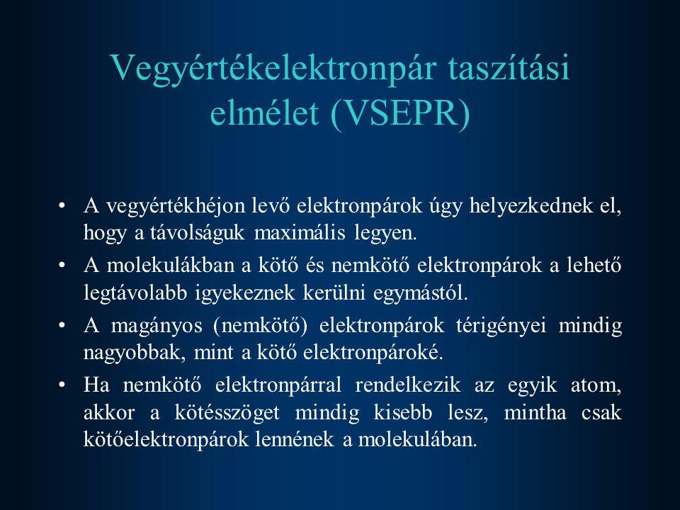 Vegyértékelektronpár taszítási elmélet (VSEPR)