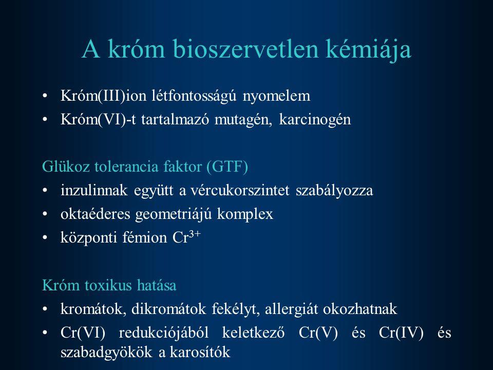 A króm bioszervetlen kémiája