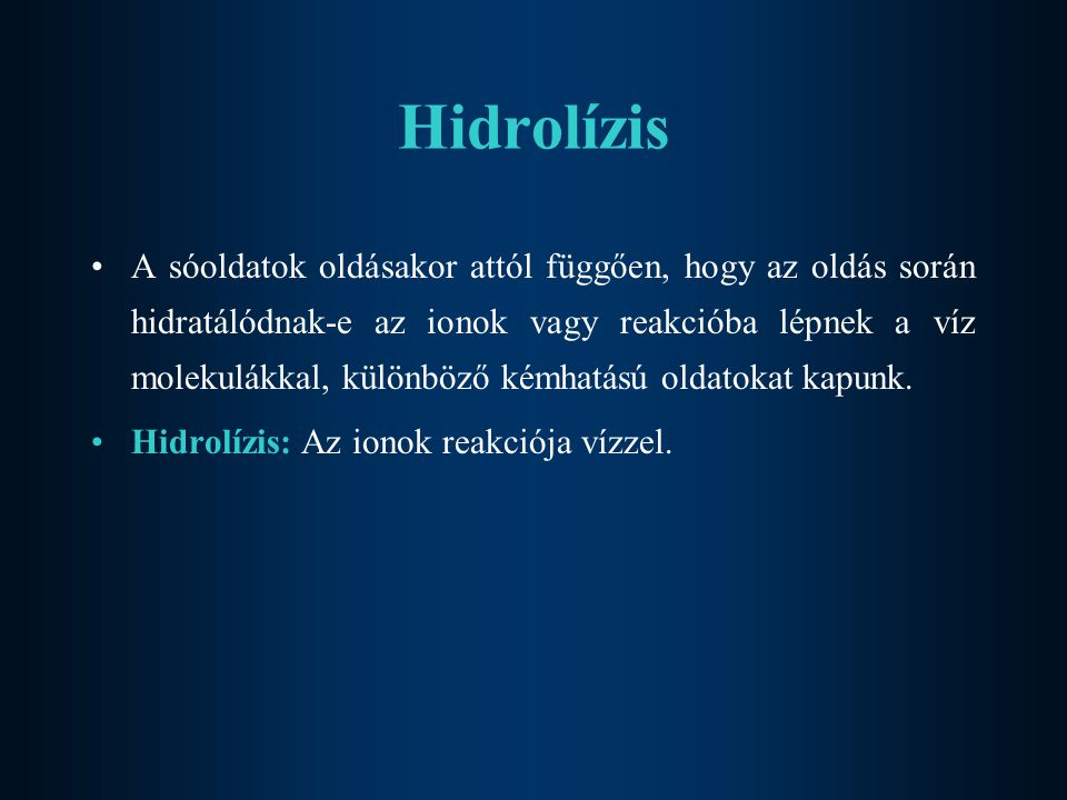 Hidrolízis