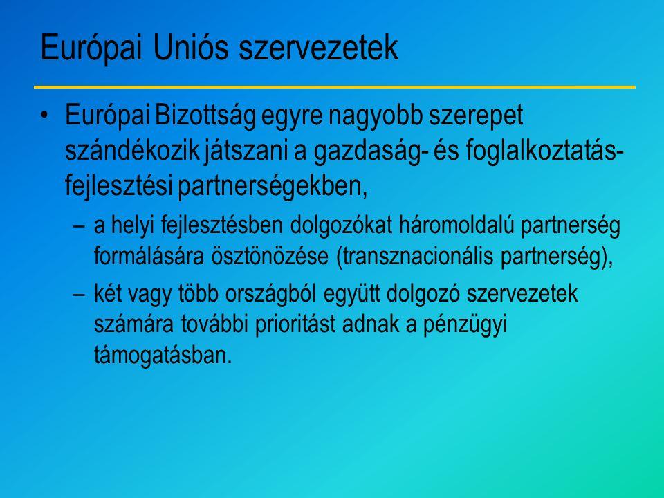 Európai Uniós szervezetek