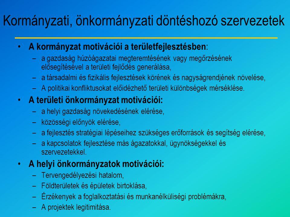 Kormányzati, önkormányzati döntéshozó szervezetek