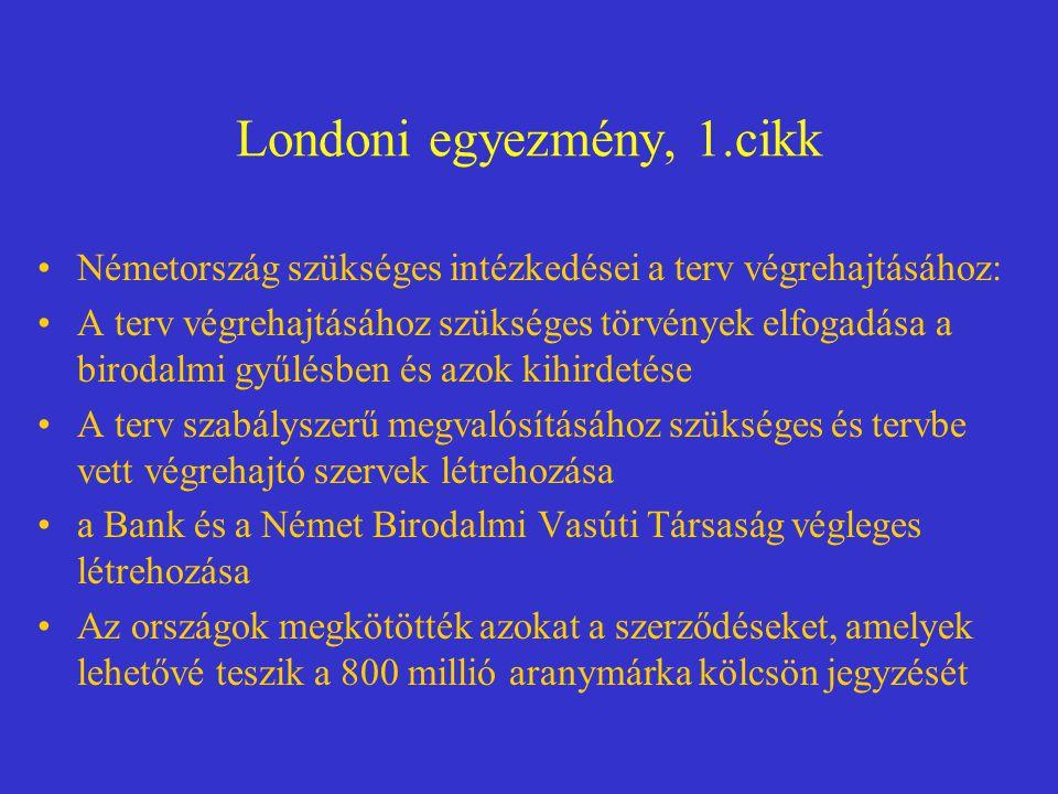 Londoni egyezmény, 1.cikk