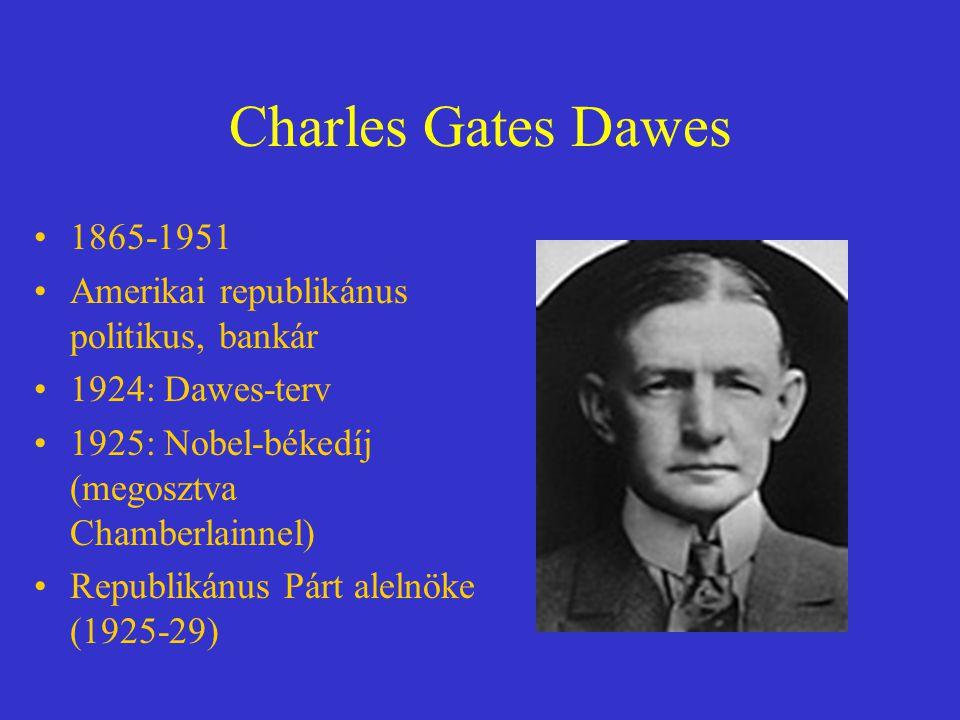 Charles Gates Dawes 1865-1951 Amerikai republikánus politikus, bankár