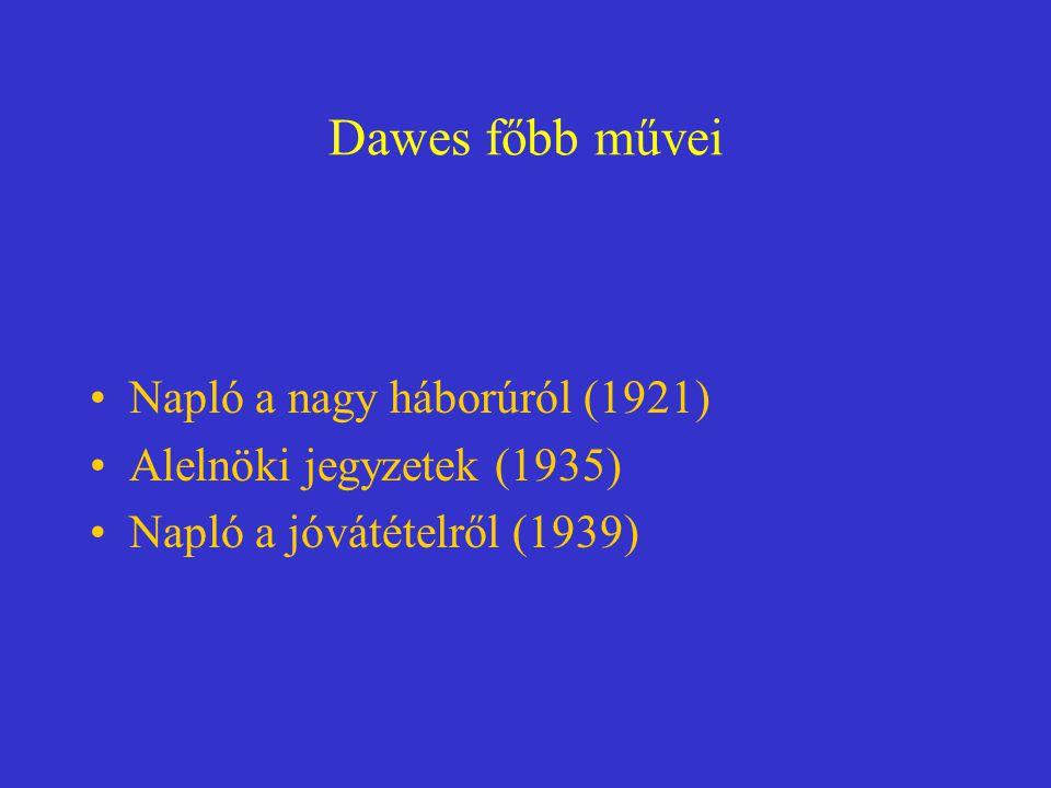 Dawes főbb művei Napló a nagy háborúról (1921)