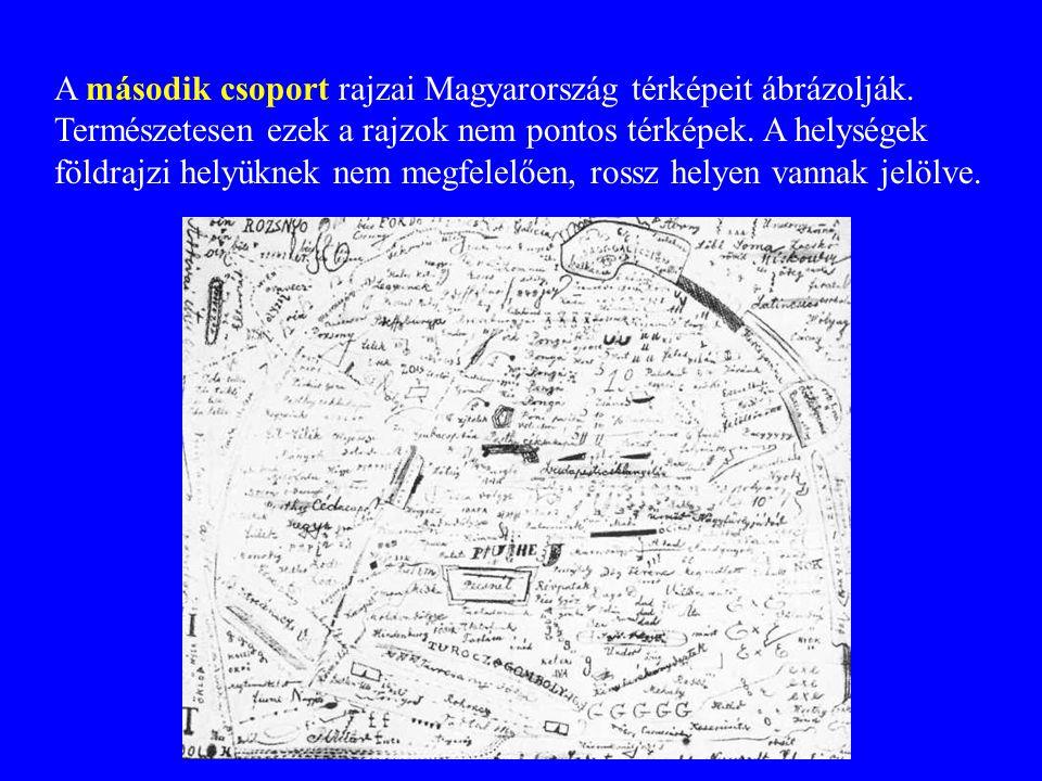 A második csoport rajzai Magyarország térképeit ábrázolják