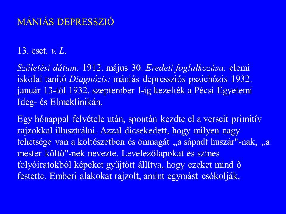 MÁNIÁS DEPRESSZIÓ 13. eset. v. L.