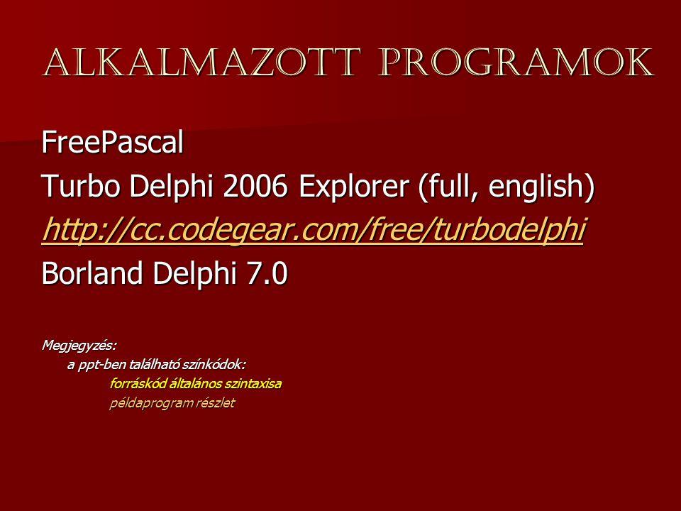 Alkalmazott programok