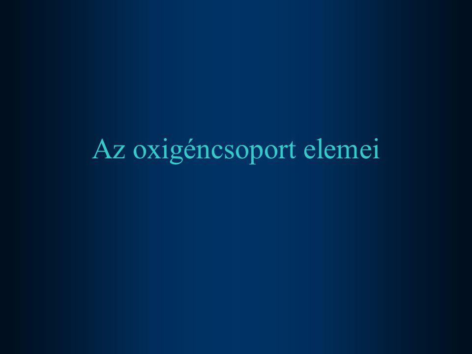Az oxigéncsoport elemei