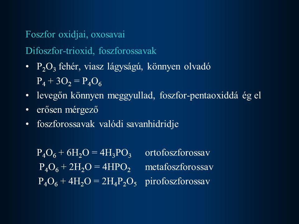 Foszfor oxidjai, oxosavai
