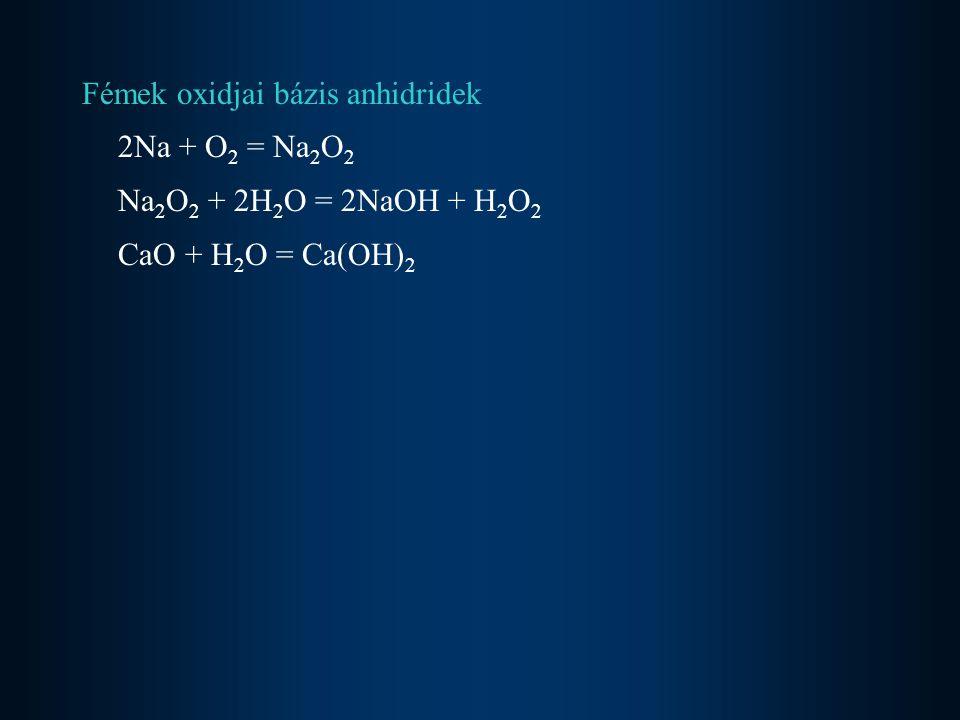 Fémek oxidjai bázis anhidridek