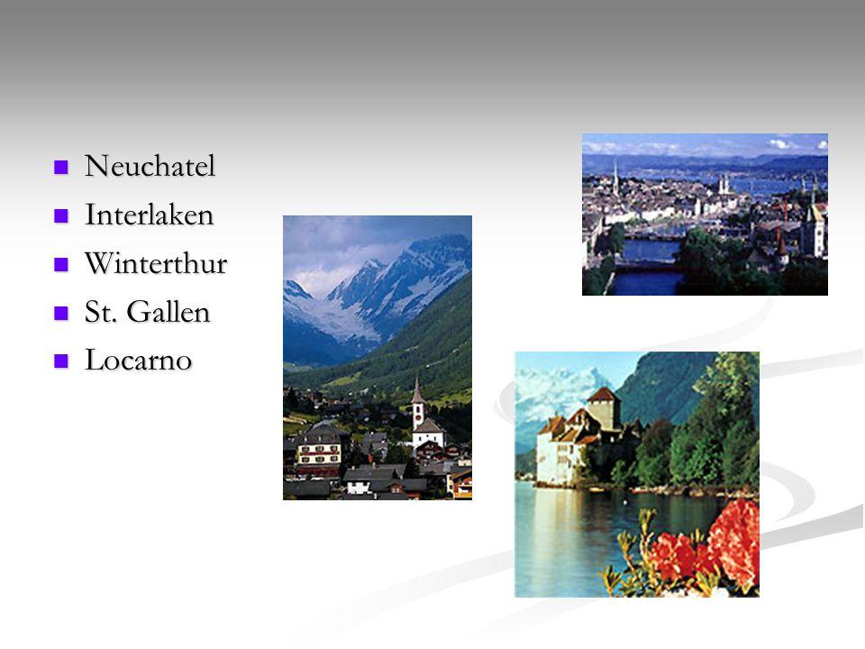 Neuchatel Interlaken Winterthur St. Gallen Locarno