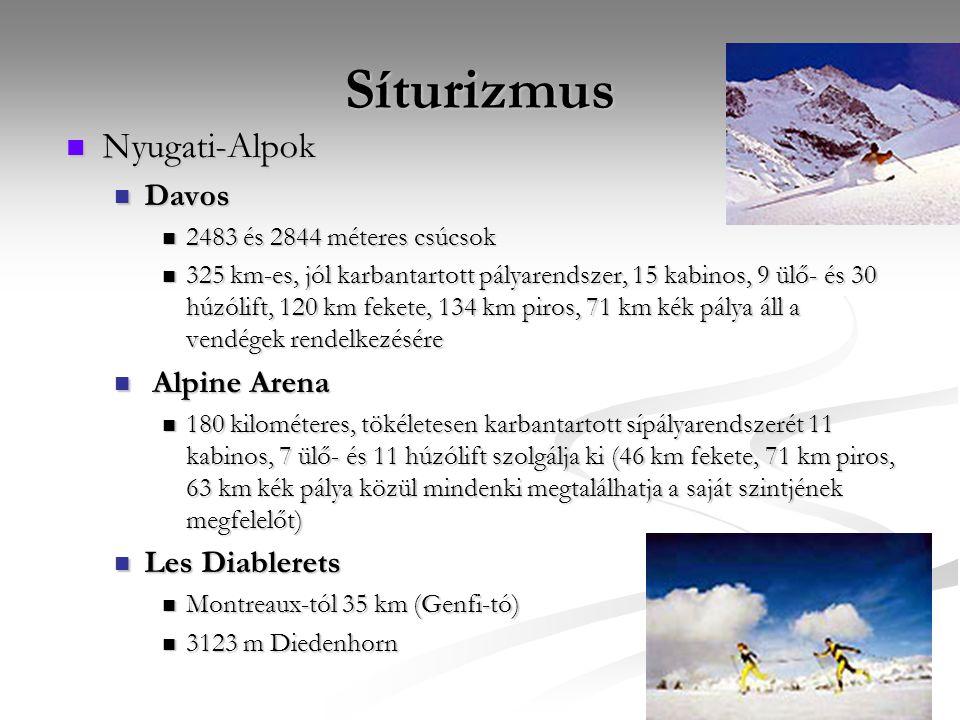 Síturizmus Nyugati-Alpok Davos Alpine Arena Les Diablerets