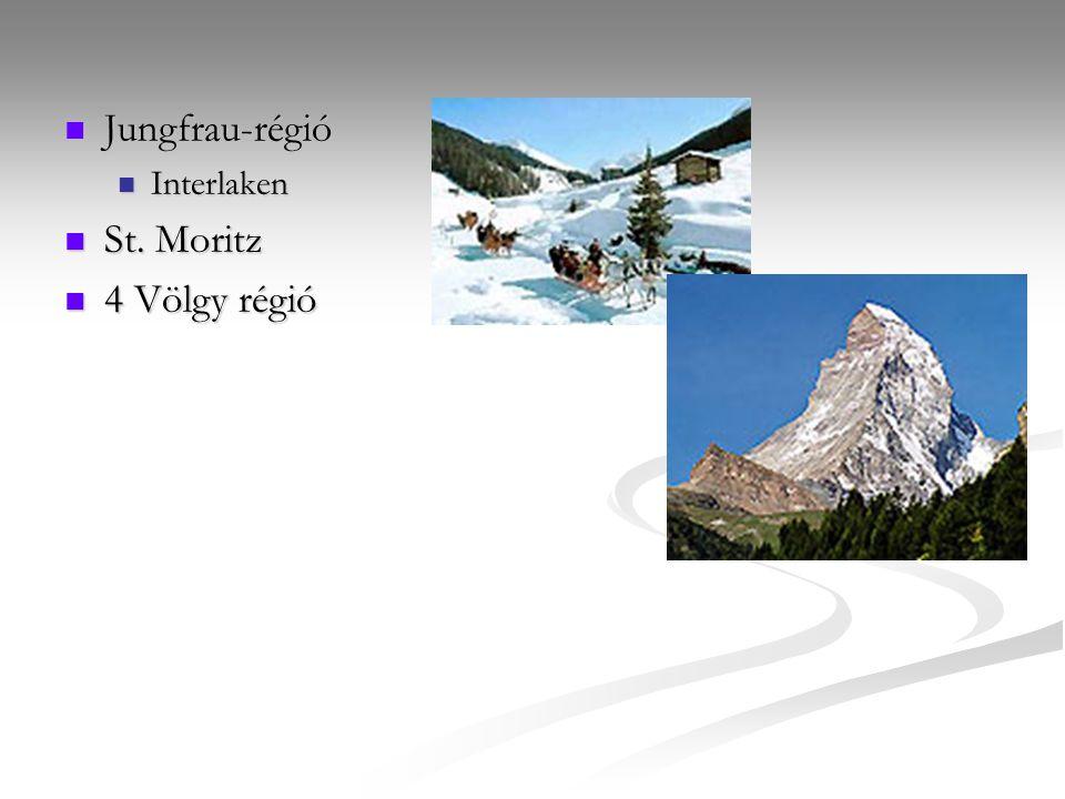 Jungfrau-régió Interlaken St. Moritz 4 Völgy régió
