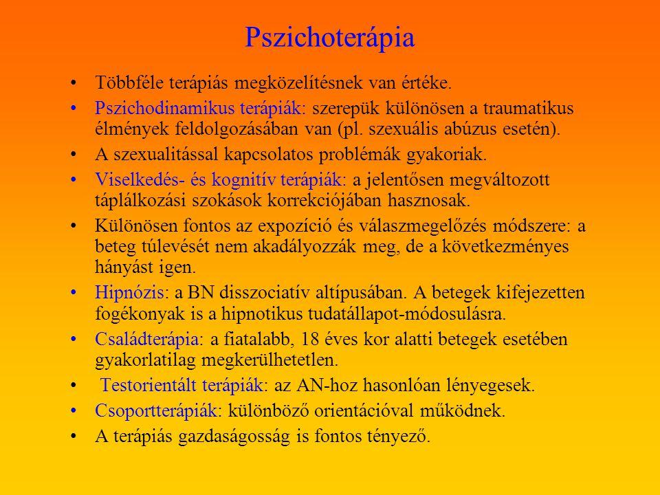 Pszichoterápia Többféle terápiás megközelítésnek van értéke.