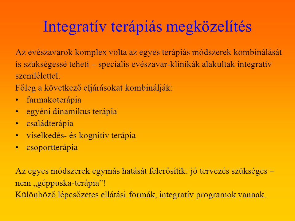 Integratív terápiás megközelítés