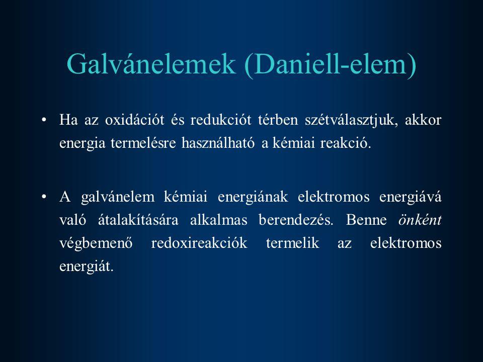 Galvánelemek (Daniell-elem)