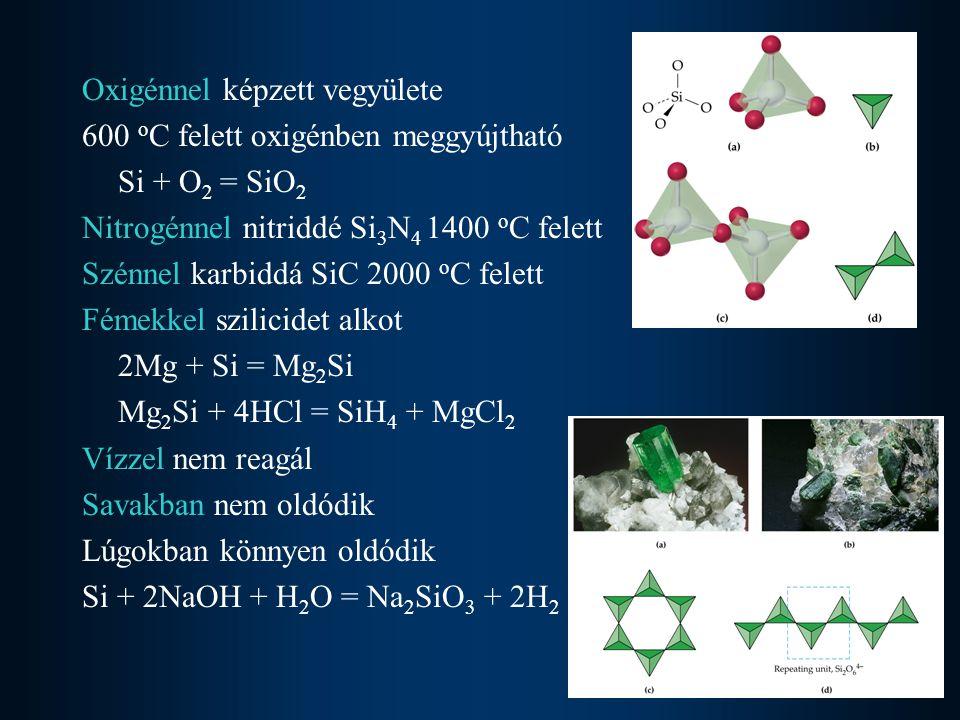 Oxigénnel képzett vegyülete