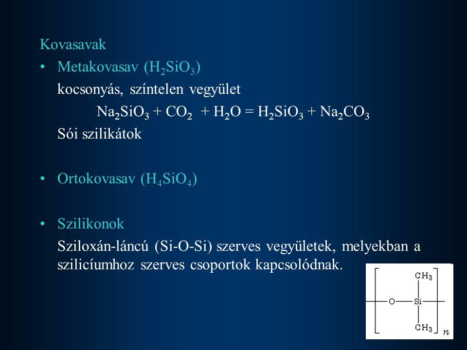 Na2SiO3 + CO2 + H2O = H2SiO3 + Na2CO3