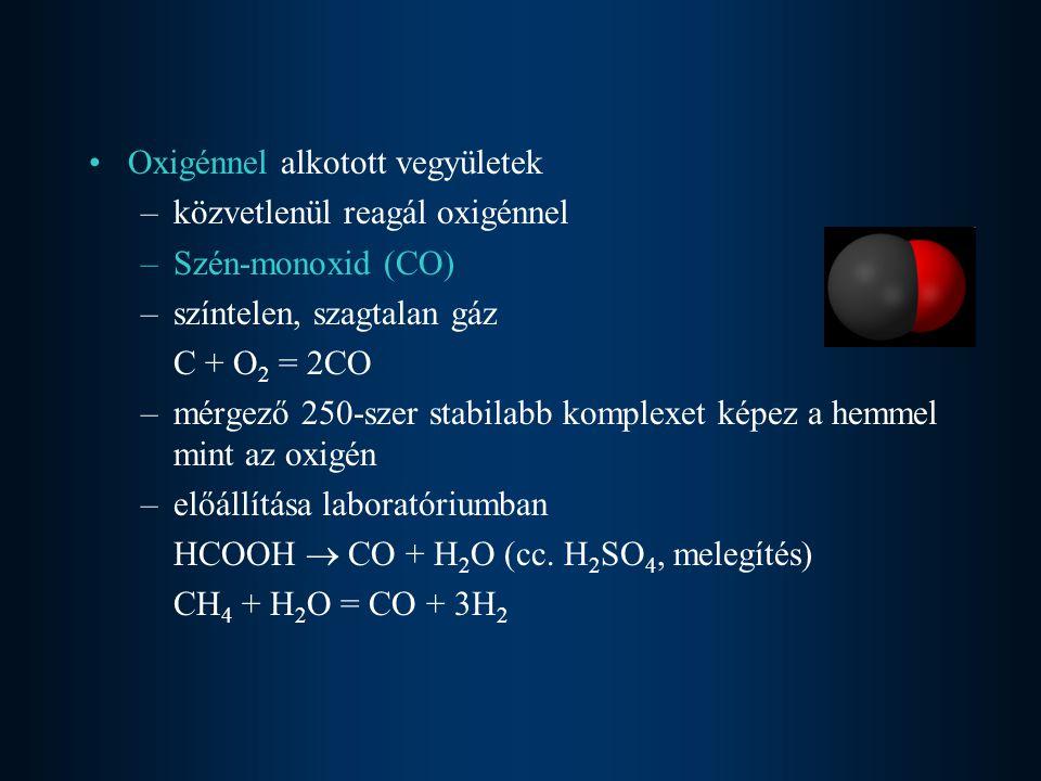 Oxigénnel alkotott vegyületek