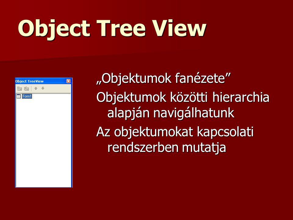 """Object Tree View """"Objektumok fanézete"""