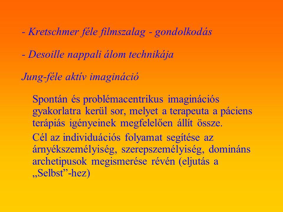 - Kretschmer féle filmszalag - gondolkodás