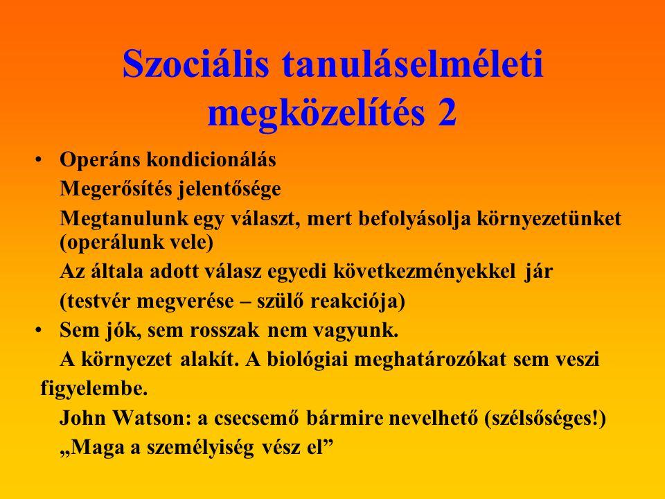 Szociális tanuláselméleti megközelítés 2