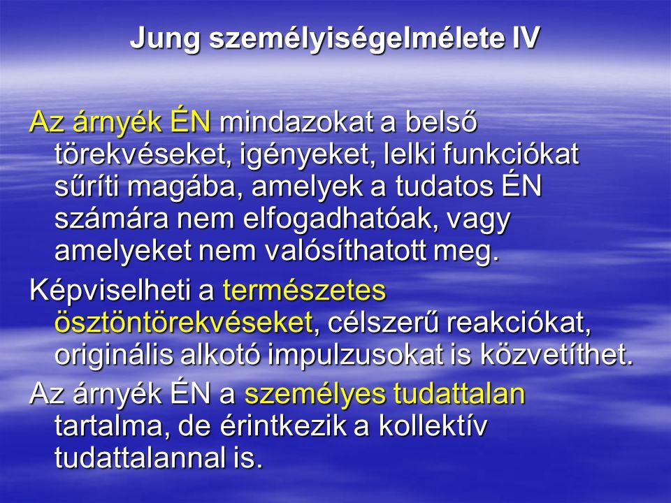 Jung személyiségelmélete IV