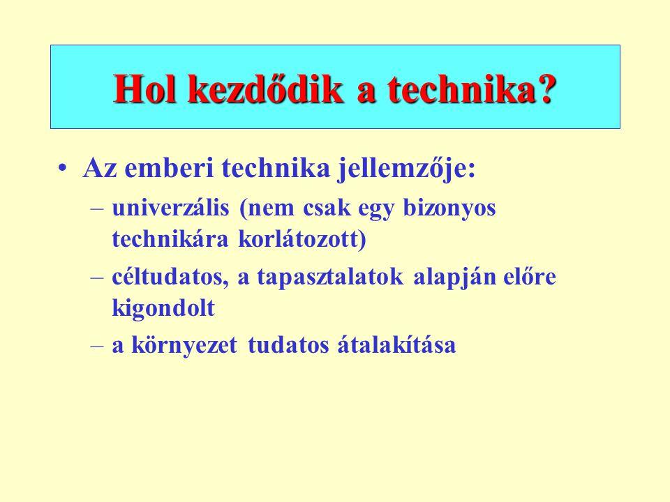Hol kezdődik a technika
