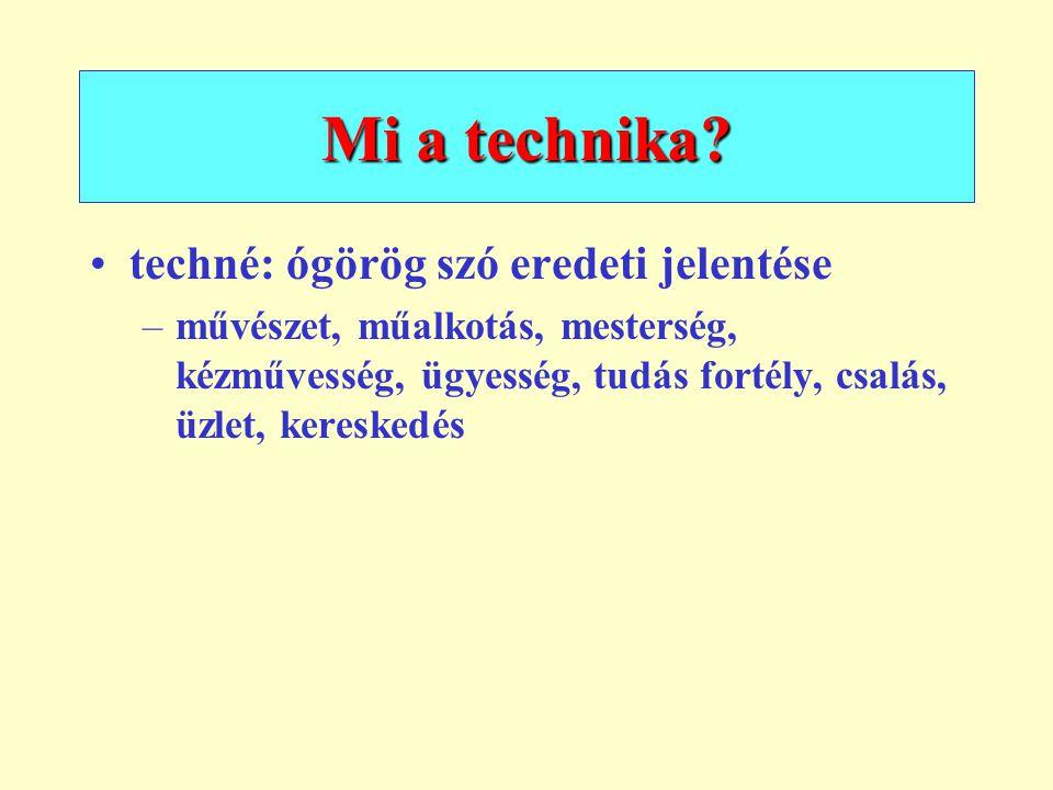 Mi a technika techné: ógörög szó eredeti jelentése