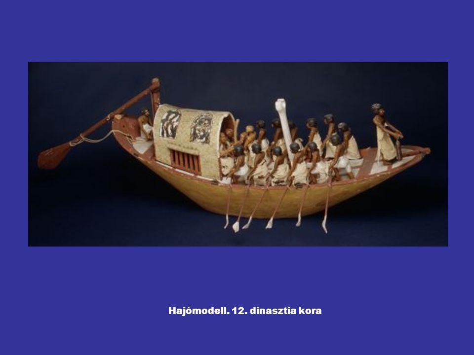 Hajómodell. 12. dinasztia kora