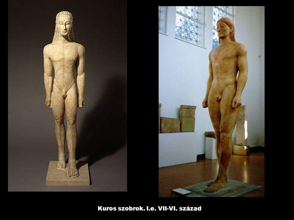 Kuros szobrok. I.e. VII-VI. század