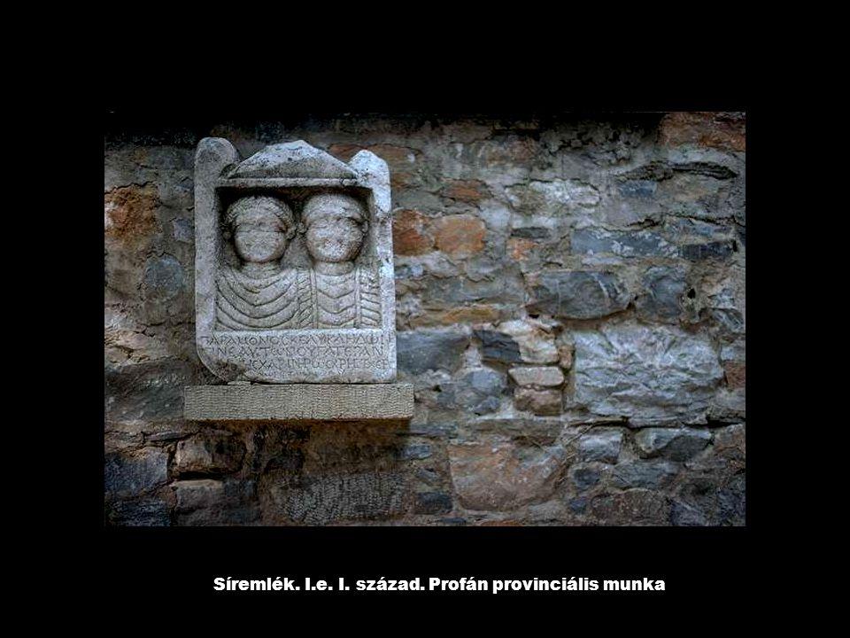 Síremlék. I.e. I. század. Profán provinciális munka