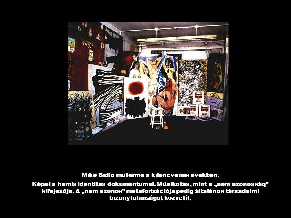 Mike Bidlo műterme a kilencvenes években.