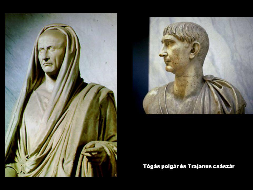 Tógás polgár és Trajanus császár
