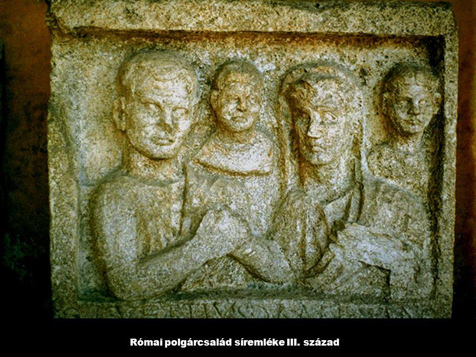 Római polgárcsalád síremléke III. század
