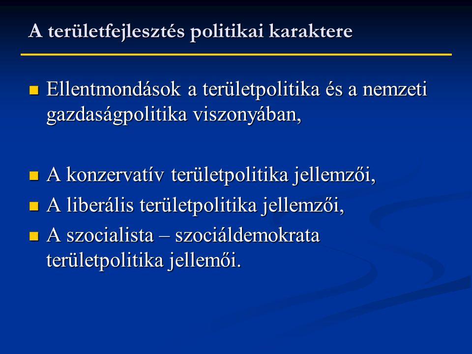 A területfejlesztés politikai karaktere